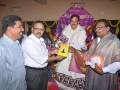 Presentation of book by SR Bhallam to Dr. Derakonda Srihari & Dr M.Laxminarayana Deans of University.