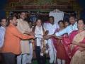 Mrs.Garapati Gopalarao Bhuvaneswari , Tadepalligudem giving 1Lakh rupees check to U.A.R.D.T