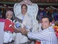 Sathguru presenting prasadam to Reka Usha Kiran along with his Younger Brother Sri Hussain Sha