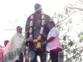 Dr.Umar Alisha , 9th head of the peetham garlanding statue of Kavisekhara Dr.umar Alisha along with Korimilli Balaprasad, Corporator