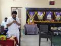 ప్రసంగిస్తున్న శ్రీ గట్టిం మాణిక్యాలరావు గారు, కైండ్నెస్ సొసైటీ అధ్యక్షులు.