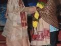 సద్గురువర్యులను  సత్కరించిన శ్రీ గరిమెళ్ళ  వెంకటరమణ  శాస్త్రి గారు.