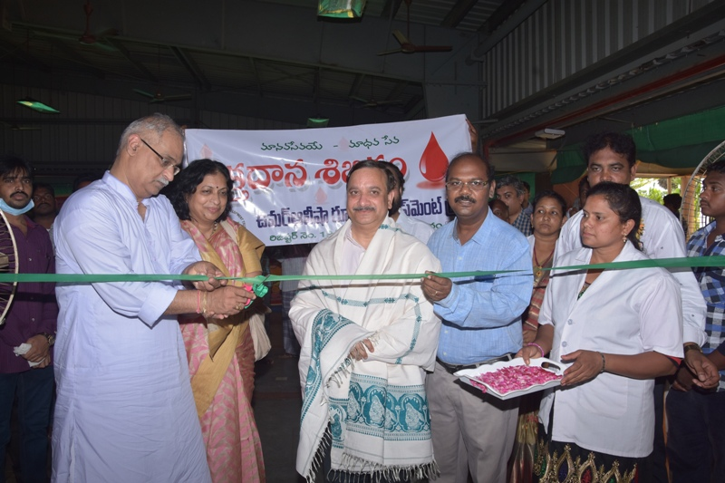 Blood donation camp Inagurated by Mr. J.R.K.Sastri