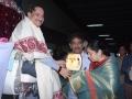 Sathguru presenting Memento to Mr & Mrs. Pothula Vishvam