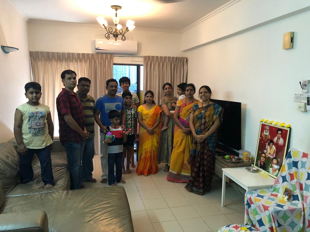 Malaysia – Monthly Aaradhana at Mr.Srinivas and Mrs.Sowjanya on 27th April