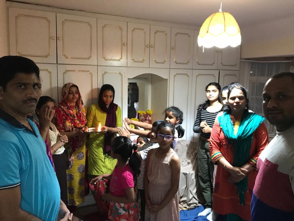 London – Monthly Aaradhana at Mr.BulliRaju's house on 29th Jun 2019