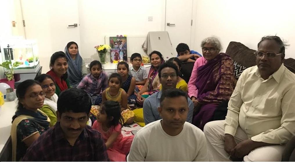 London Aaradhana at Mr.Kakarlapudi Satish Varma's house on 14 Sep 2019