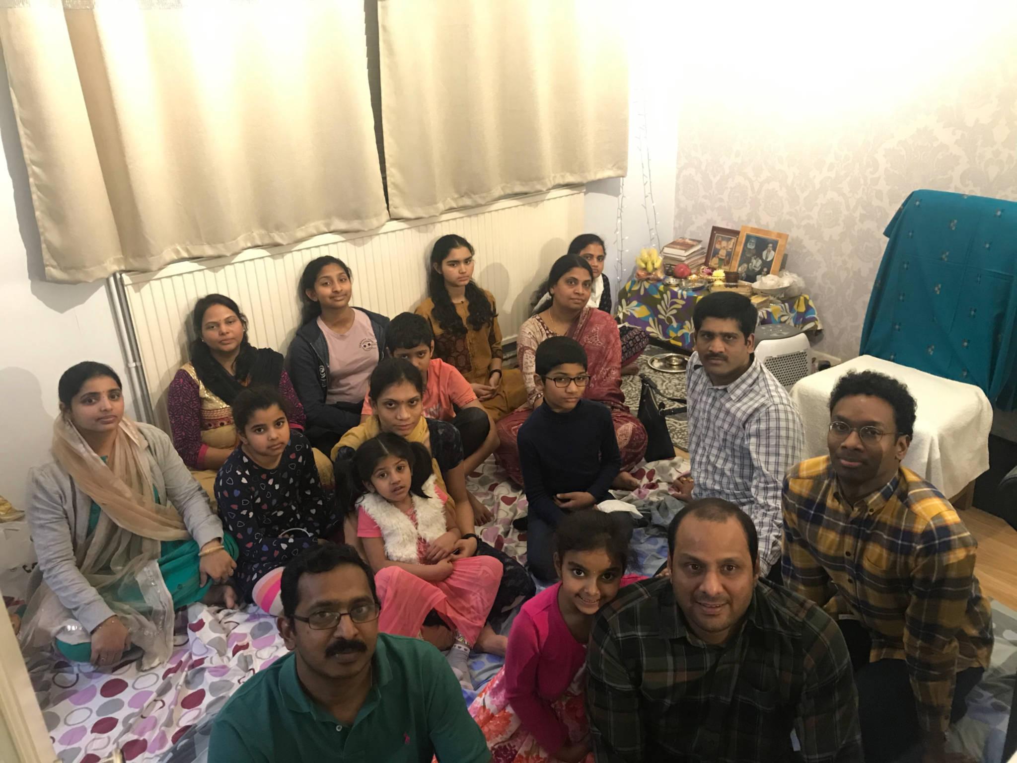UK-London – Monthly Aaradhana at Mr.Krishna Kishore Yerra's house on 1-Feb-2020