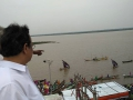 Dr Umar Alisha viewing Gowthami Ghat, Rajahmundry