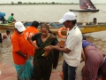Volunteers providing assistance at Subbayamma ghat , Rajahmundry on 19th Jul 2015, 6th day of Godavari Pushkaralu