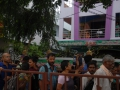 Devotees queued outside Rajahmundry Ashram on 20th Jul 2015, 7th day of Godavari Pushkaralu