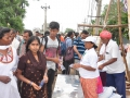 Volunteers distributing water packets at Subbayamma ghat, Rajahmundry on  23 Jul 2015, 10th day of Godavari Pushkaralu