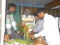 Volunteers helping with decoration in preparation of 12th day of Godavari Pushkaralu at Rajahmundry Ashram on 24 Jul 2015,