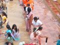 Volunteer assisting elderly on 24 Jul 2015, 11th day of Godavari Pushkaralu at Gowthami ghat