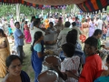 Devotees having prasadam - Guru Pournima Sabha - Pithapuram New Ashram 31-Jul-2015
