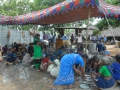Volunteers cleaning vessels - Guru Pournima Sabha - Pithapuram New Ashram 31-Jul-2015