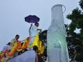 Sri.Thota Narsimham,M.P.(Kakinda) unveiling  statue of Kavisekhara Dr.Umar Alisha (6th head of peetham)