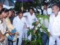 Guests planting at the  event of Kavisekhara  Dr.Umar Alisha  Statue unveiling at Boats Club, Kakinada