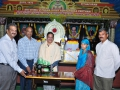 Distribution of sewing machine to Ms.Amina sulthana.  VSS. KUMAR J.N.T.U wise chancellor, Dr.Padmaraju