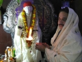 Sathguru Dr.Umar Alisha offering Harathi in Sai temple in  Karthika Masam Tour - Gummuluru, West Godavari District, AP