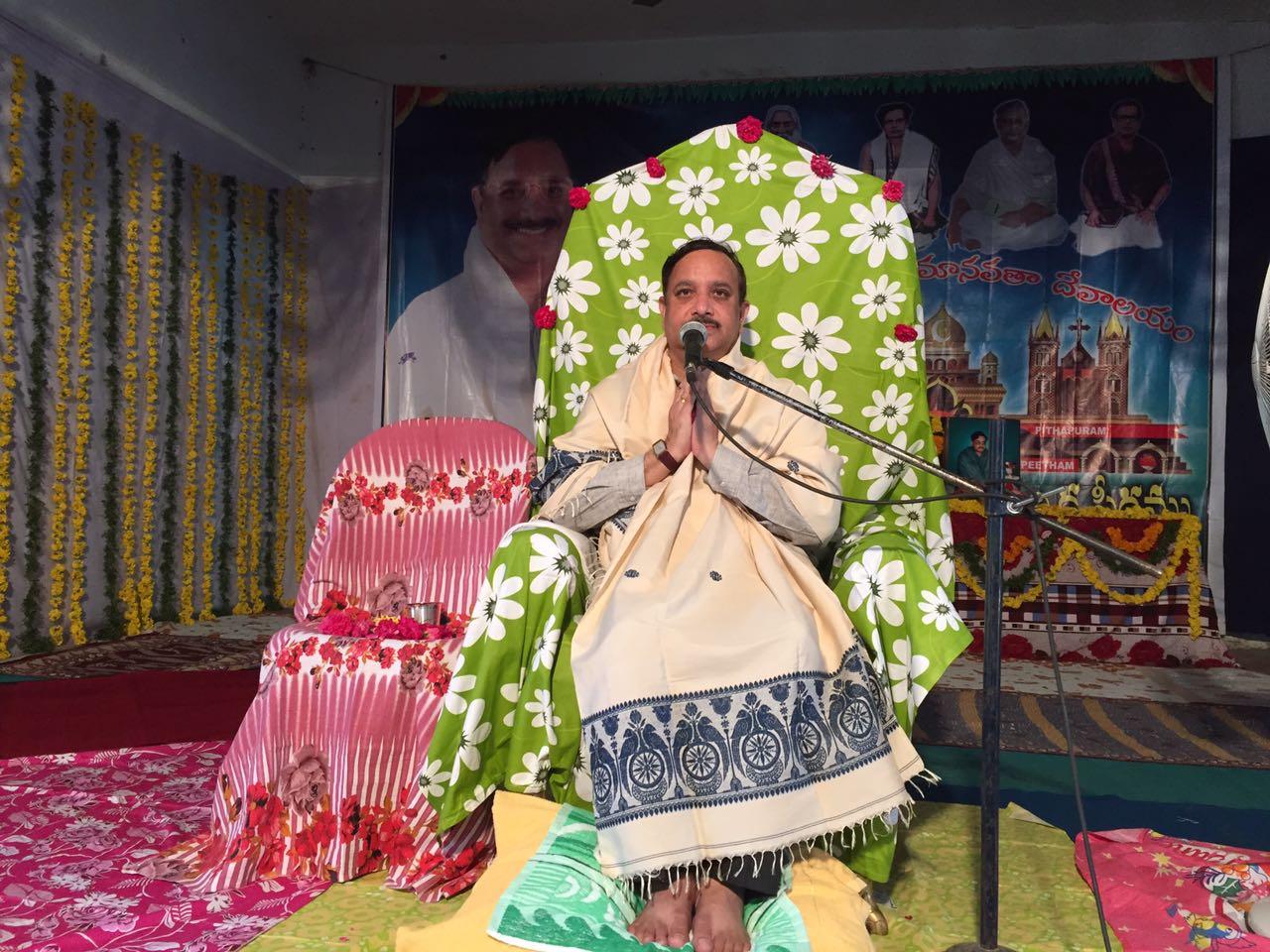 Sathguru Dr.Umar Alisha in Karthika Masam Tour - JangareddyGudem, West Godavari District, AP
