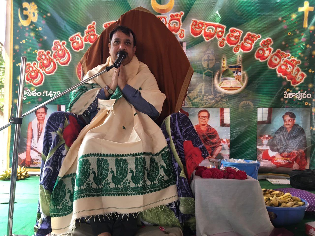 Sathguru Dr.Umar Alisha in  Karthika Masam Tour - K.Pentapadu, West Godavari,AP