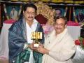 Sathguru Dr.Umar Alisha presenting memento to Telugu Film actor Suman