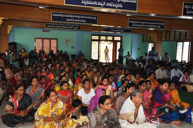 Attendence of disciples at Rajamahendravaram Sabha