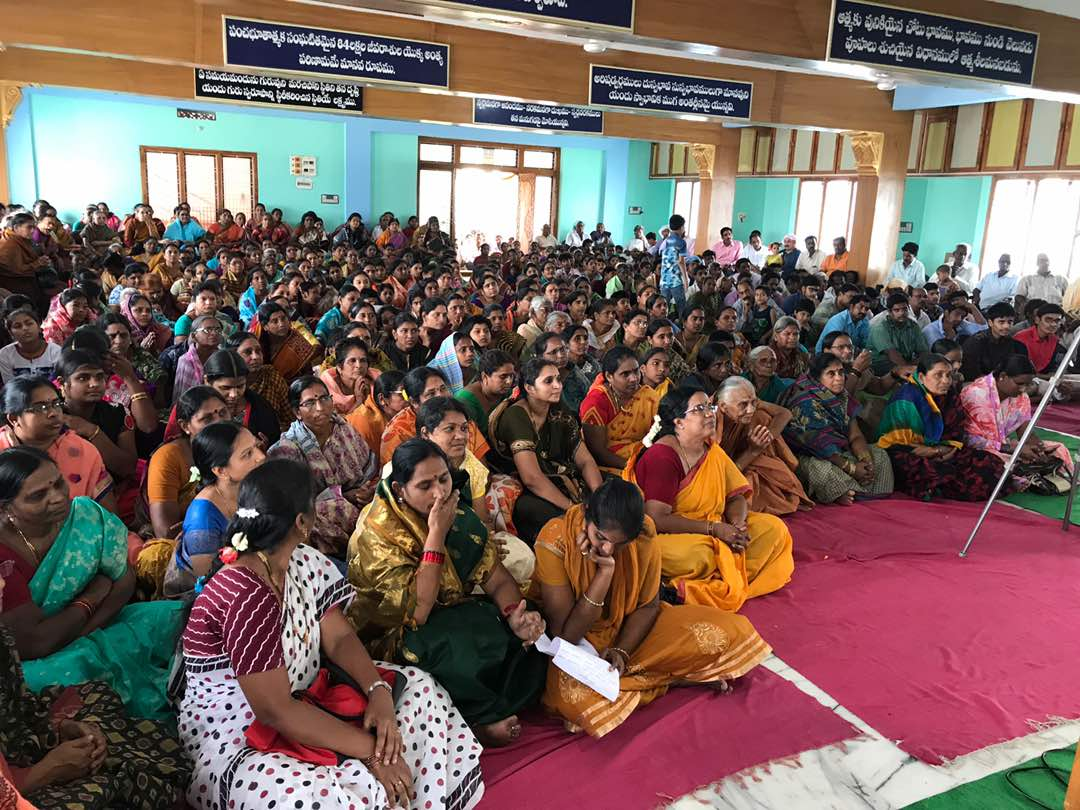 Disciples attended at Rajahmundry  Sabha in Vysakhamasam 2017 tour