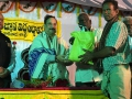 Sathguru Dr.Umar Alisha donating rice to poor people via UARDT at Kakinada  Sabha in Vysakhamasam 2017 tour