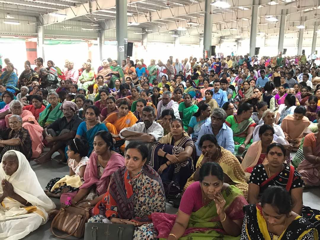 Disciples attended at Vysakhamasam sabha at Pithapuram New Ashram