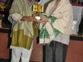 Presenting momento to Adikavi Nannayya University vice chancellor M Muthyala Naidu