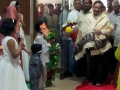 Welcoming Guruji, Dr. Umar Alisha Swamy at Saagi Ramakrishna Raju community hall, Madhura Nagar, Hyderabad