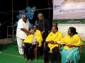 Saraswathi Peetham sponsors have felicitated Sri Viswa Viznana Vidhya Aadhyatmkia Peetham members Sri Peruri Suribabu and Smt.Peruri Komali