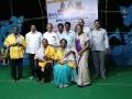 Saraswathi Peetham sponsors have felicitated Sri Viswa Viznana Vidhya Aadhyatmkia Peetham members Sri Peruri Surubabu and Smt.Peruri Komali