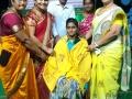 Felicitation to speakers at Saraswathi Ghat Day5, Rajahmundry, SRI VISWA VIZNANA VIDYA AADHYATMIKA PEETHAM