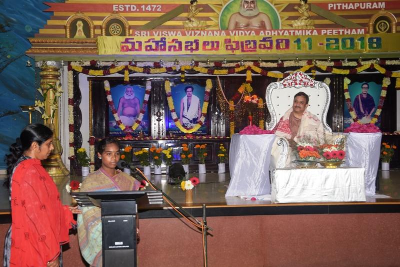 Speech by K. Rajamma, Chimalavari gudem