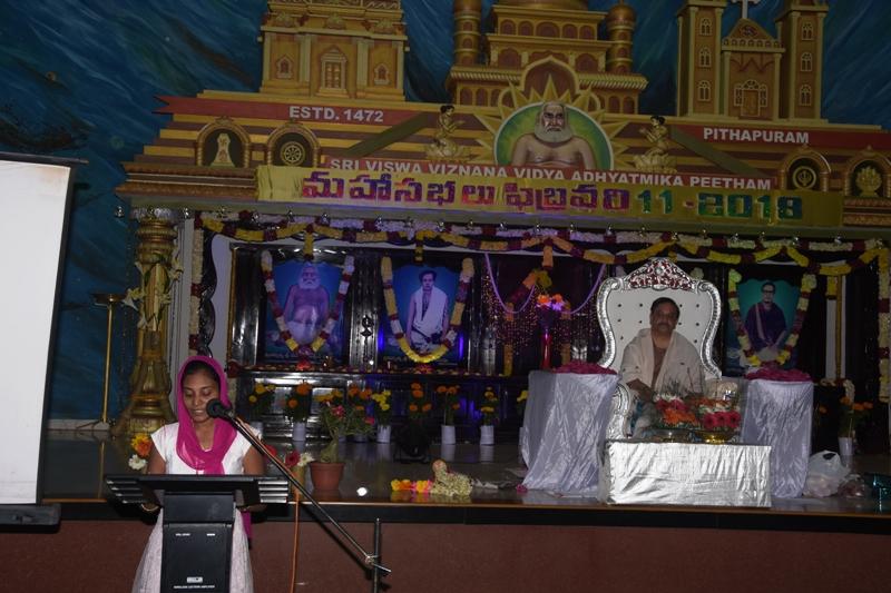 Speech by Ms. Deepthi, Hyd