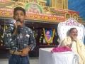 సభలో ప్రసంగిస్తున్న చిన్నారి దేవిరెడ్డి సిద్దు, అచ్చంపేట