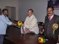 Greeting Sathguru Sri Dr. Umar Alisha garu Chief of Sri Viswa Viznana Vidhya Adhyatmika Peetham, Pithapuram and Mr. Pilli Thirupathirao Chairman of Mother India International.