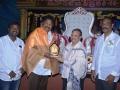Sathguru presenting Memento to Mr. Karumuri Venkata Nageswarao