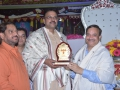 Sathguru honouring Sri V.V.Lakshmi Narayana (Additionl Director General of Police, Mumbai)