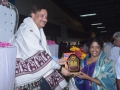 Sathguru presenting Memento to Smt. Vanga Geetha Vishwanadh (Ex. MLA, Pithapuram)