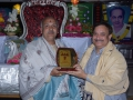 Sathguru presenting Memento to Mr.Garemella Venkata Ramana sastry