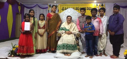 Sathguru-Dr.Umar-Alisha-with-children-participated-in-cultural-activity-in-Karthika-Masam-Tour-Hyderabad-Telangana
