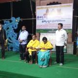 Saraswathi-Peetham-sponsors-have-felicitated-Sri-Viswa-Viznana-Vidhya-Aadhyatmkia-Peetham-members-Sri-Peruri-Surubabu-and-Smt.Peruri-Komali